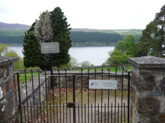 Entrance to Boleskine cemetary